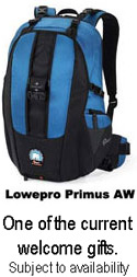 Lowepro Primus Welcome Gift