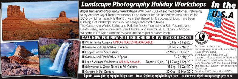 Landscape Photography Workshop Holiday